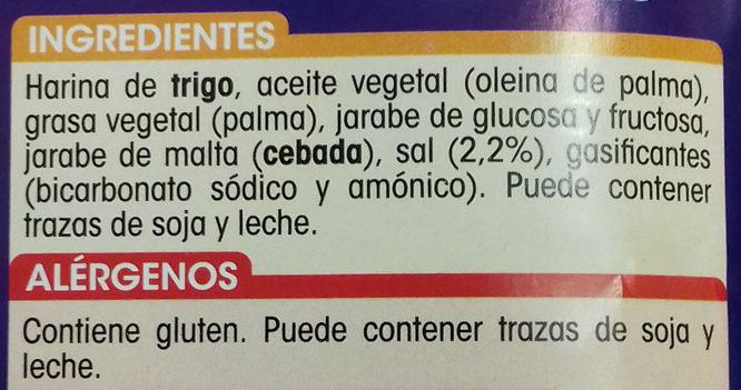 Galletas saladas - Ingredientes - es