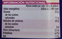Galletas saladas - Informació nutricional