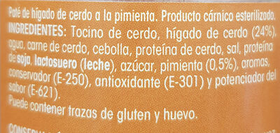 Paté a la Pimienta - Ingrediënten