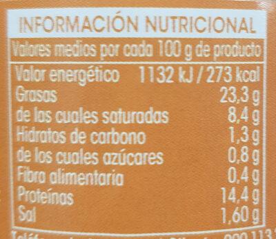 Paté a la Pimienta - Voedingswaarden