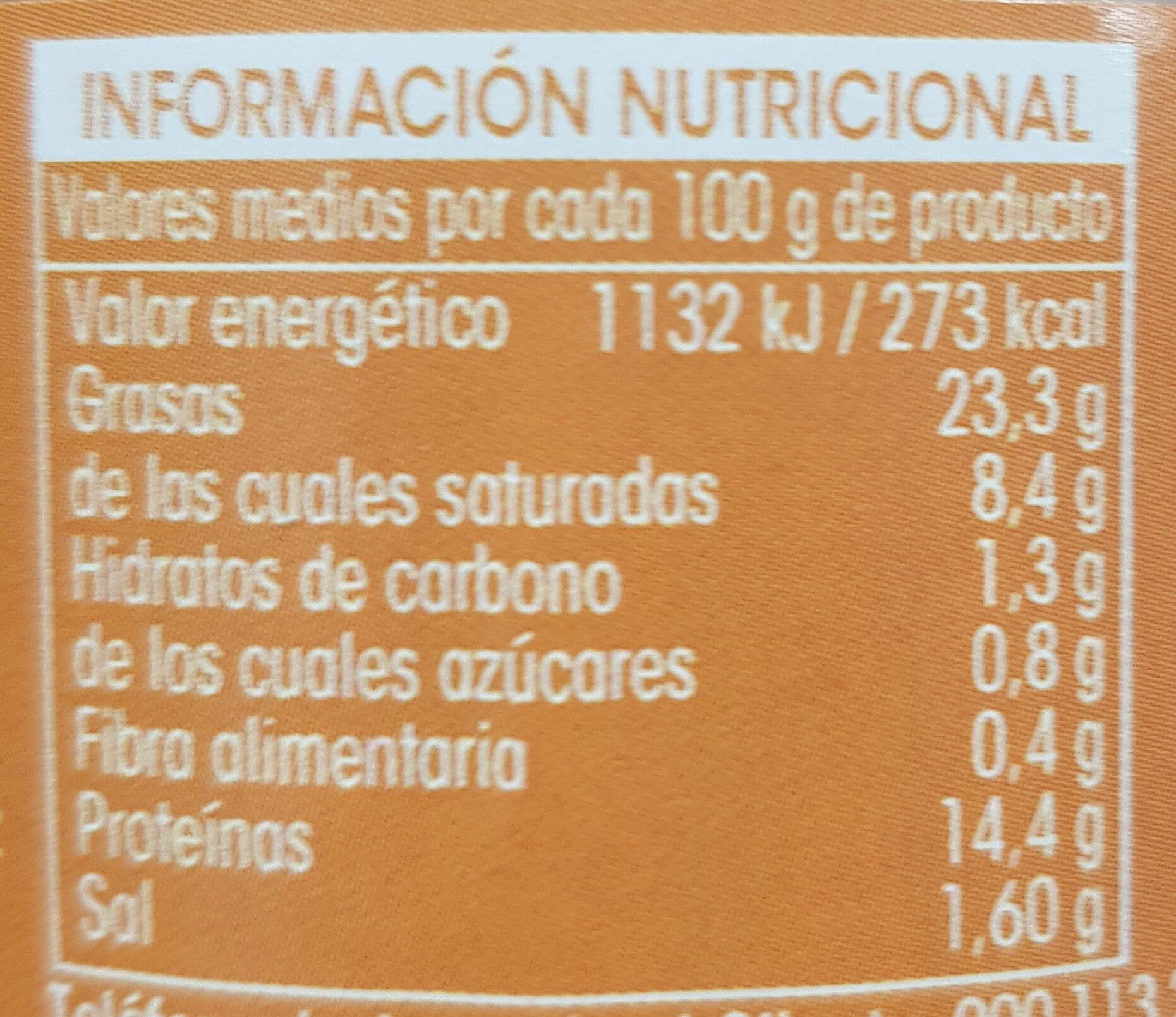 Paté a la Pimienta - Informations nutritionnelles - es
