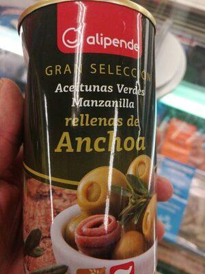 Aceitunas verdes rellenas de anchoa