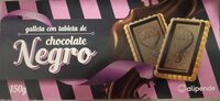 Galleta con tableta de chocolate negro - Product - es
