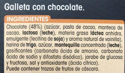Galleta con tableta de chocolate negro - Ingredients - es
