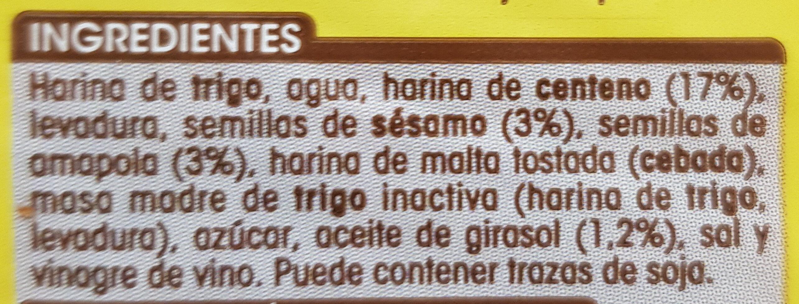 Pan Centeno17% - Ingrédients - es