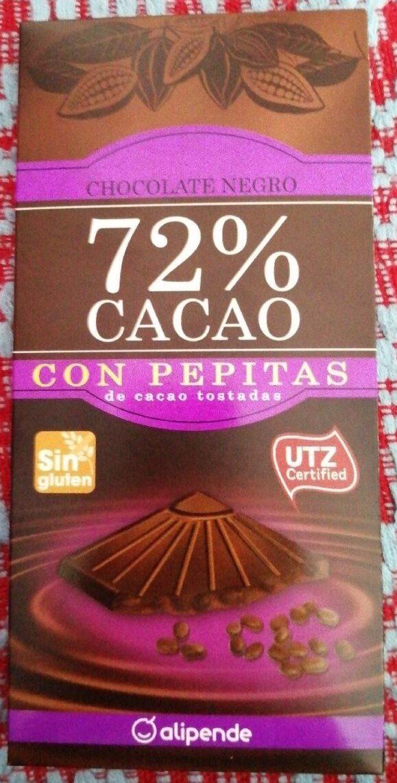 Chocolate negro 72% cacao - Producte - es