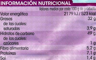 Patatas fritas extracrujientes con sabor a pimentón - Información nutricional - es