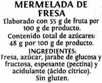Mermelada fresa - Ingredients