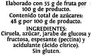 Mermelada ciruela - Ingredientes