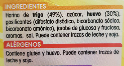 Bizcocho al huevo - Ingredientes
