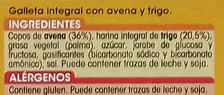 Digestive avena - Ingredientes - es