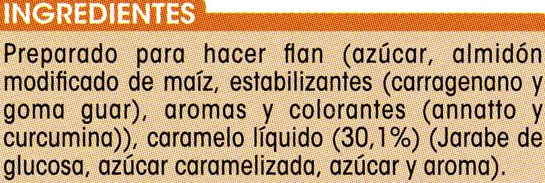 Preparado para hacer flan sabor vainilla con caramelo líquido - Ingrediënten