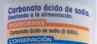 Bicarbonato Sódico - Ingredientes