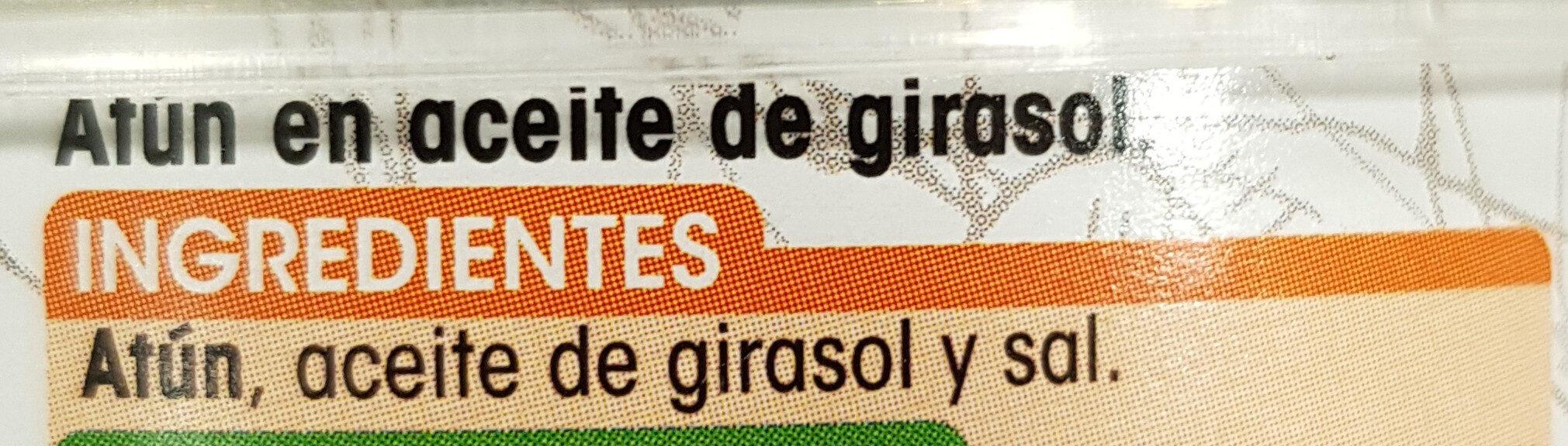 Atún en aceite de girasol - Ingredientes - es