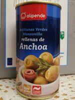 Aceitunas verdes manzanilla rellenas de anchoa - Producto