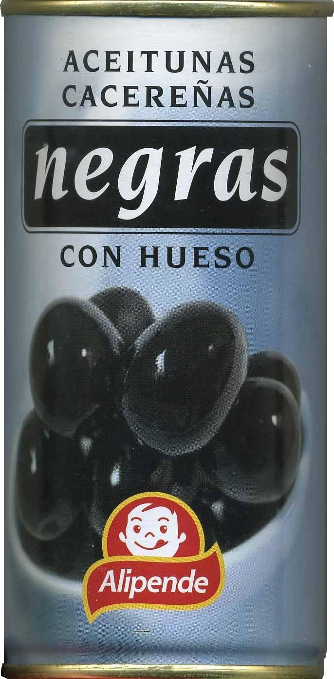 Aceitunas Negras cacereñas con hueso - Producto