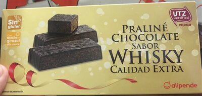 Praliné chocolate sabor Whisky Calidad extra
