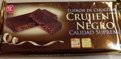 Turrón de chocolate crujiente negro