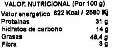 Cacahuetes con cáscara tostados con sal - Información nutricional