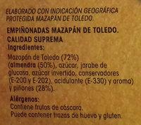 Empiñonadas Mazapán de Toledo - Ingredients