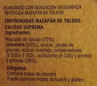 Empiñonadas Mazapán de Toledo - Ingrédients - es