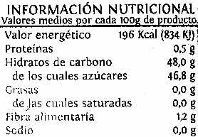 Mermelada extra Arándano - Información nutricional - es