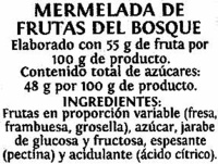 Mermelada - Ingredientes - es