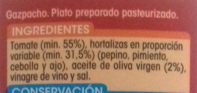 GAZPACHO - Ingredientes - es