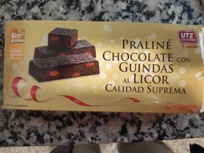 Praliné chocolate con guindas al licor - Producto
