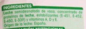 Leche semidesnatada - Ingredientes - es