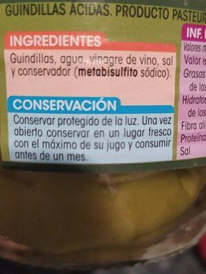 Guindillas en vinagre - Ingredients - es