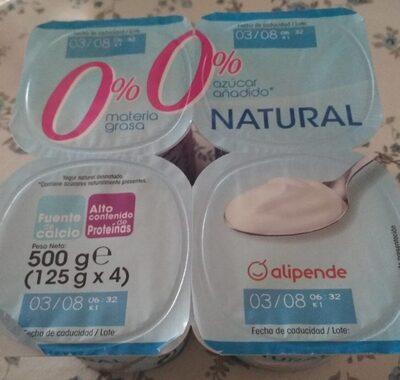 Yogurt Natural 0% 0% - Producto