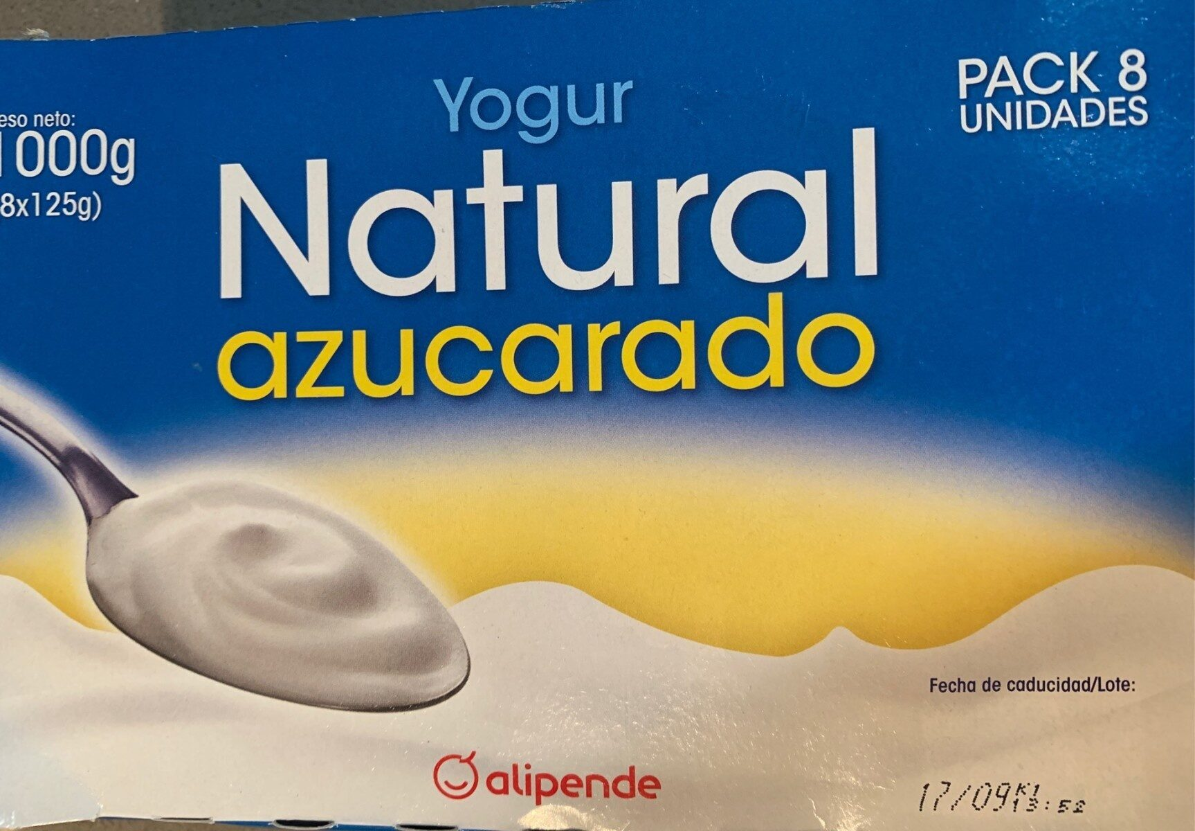Yogur Natural Azucarado - Producte