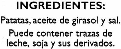 "Patatas fritas lisas ""Alipende"" - Ingrédients - es"