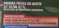 Patatas Fritas en Aceite de Oliva - Ingrédients