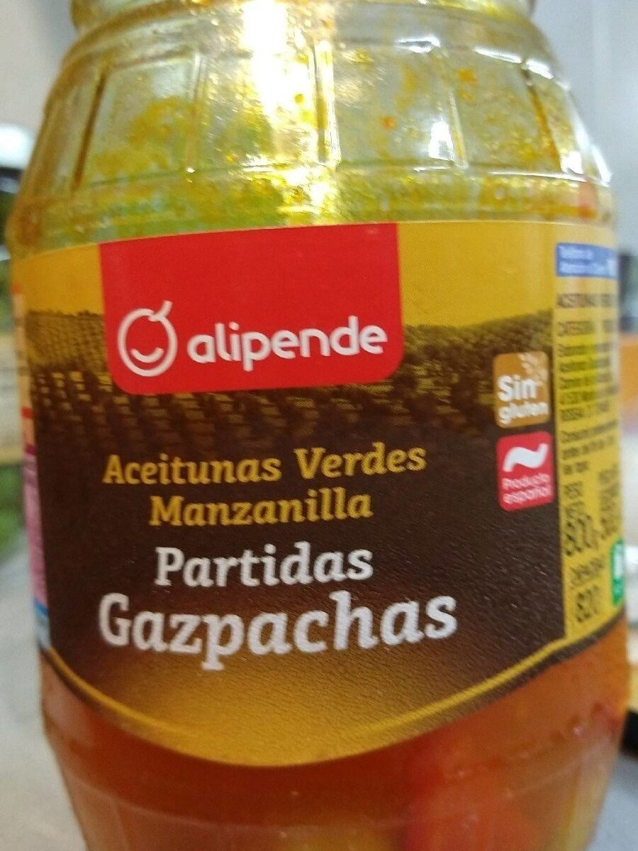 Aceitunas Verdes Manzanilla Partidas Gazpacha - Product - es