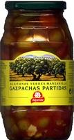"""Aceitunas verdes partidas aliñadas a la gazpacha """"Alipende"""" Variedad Manzanilla - Producto"""