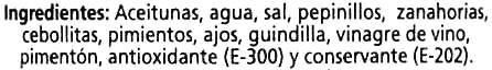 Aceitunas Verdes Manzanilla Partidas Gazpacha - Ingredientes - es