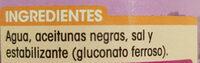 Aceitunas Negras en Rodajas - Ingredientes - es