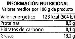 """Aceitunas negras en rodajas """"Alipende"""" - Nutrition facts"""