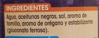 Aceitunas Negras sin hueso - Ingredients - es