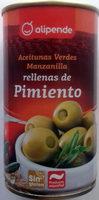 Aceitunas Verdes Manzanilla rellenas de pimiento - Producte