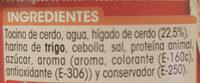 Paté de higado de cerdo - Ingrédients - es