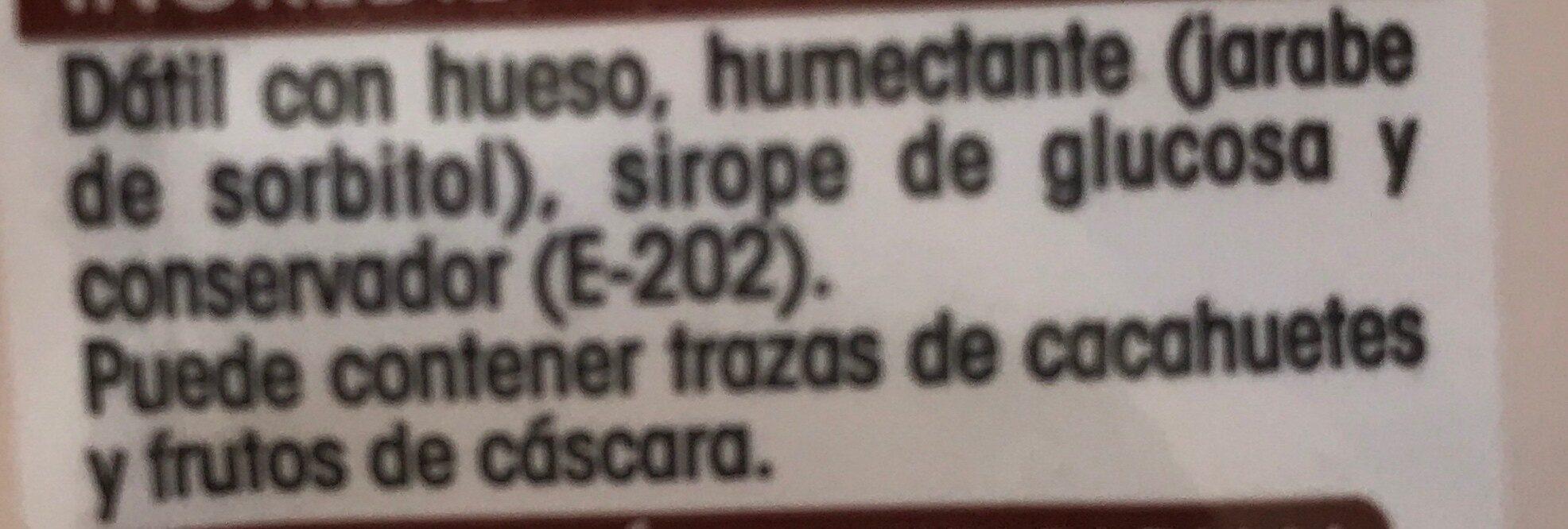 Dattes - Ingredientes - es