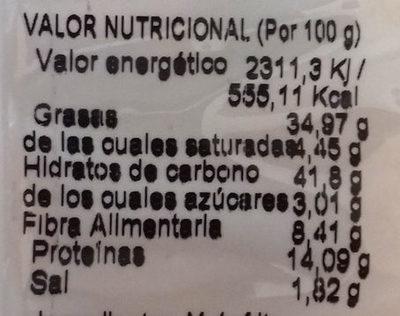 Frutos secos - Información nutricional - es