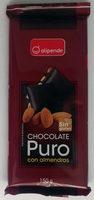 Chocolate puro con almendras - Producto
