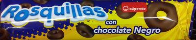 Rosquillas con chocolate negro