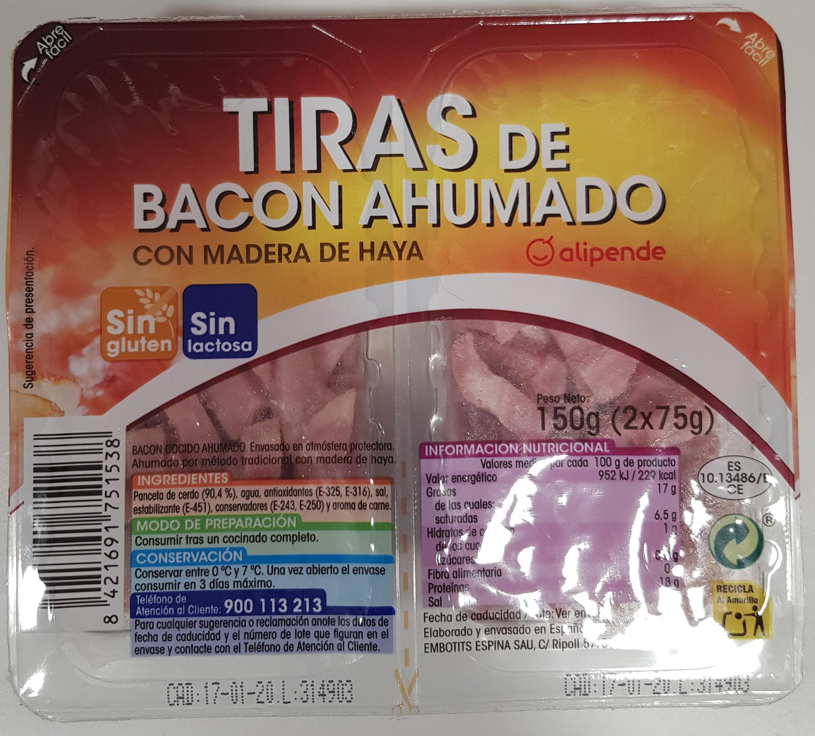 Tiras de bacon ahumado - Producto
