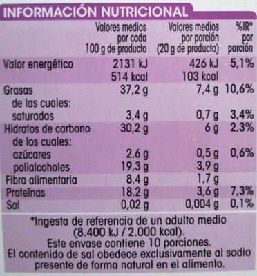 Turrón crema de almendras - Nutrition facts - es