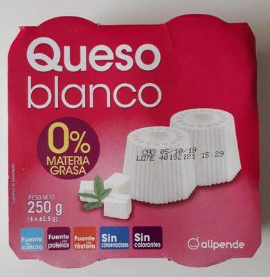 Queso blanco 0% materia grasa